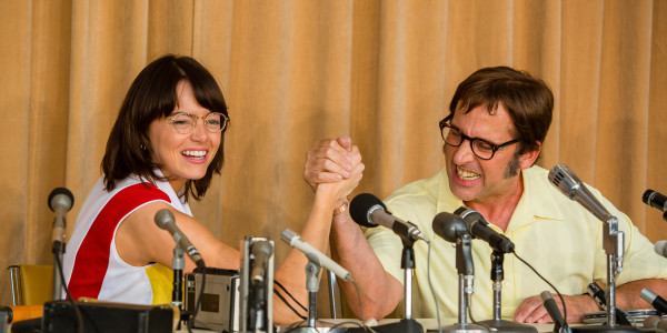 Emma Stone and Steve Carell in, Battle of the Sexes