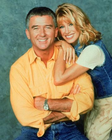 """Patrick Duffy with this Step By Step """"wife"""" Suzanne Sommers"""