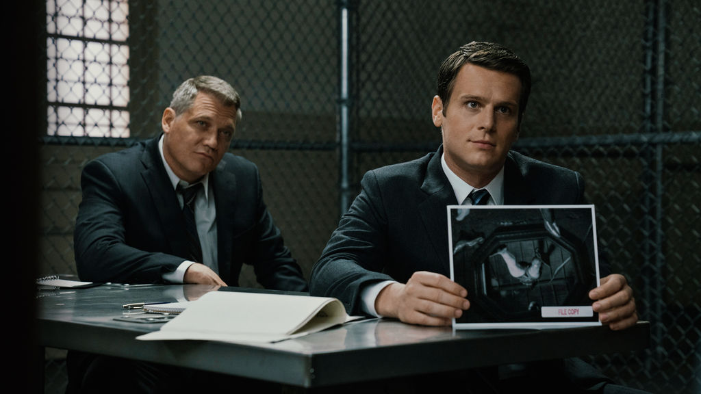 Holt McAllany and Jonathan Groff star in MINDHUNTER