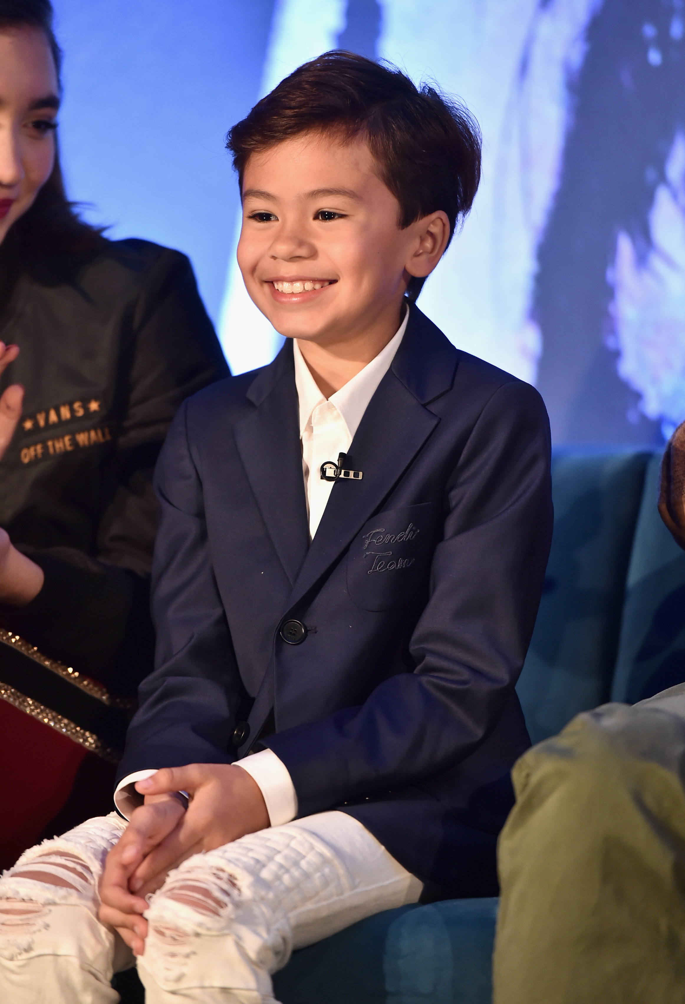 Deric McCabe at the Los Angeles Press Conference for, A Wrinkle In Time