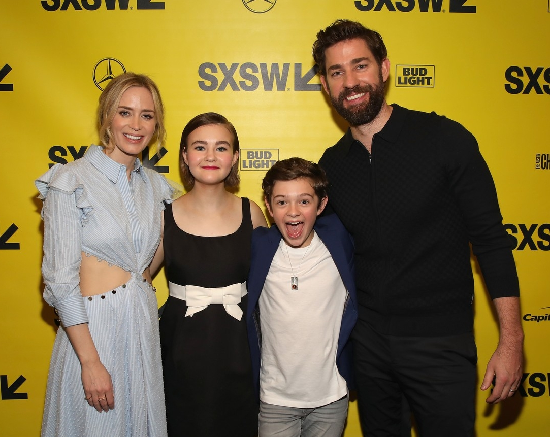 At SXSW - Emily Blunt, Millicent Simmonds, Noah Jupe and John Krasinski