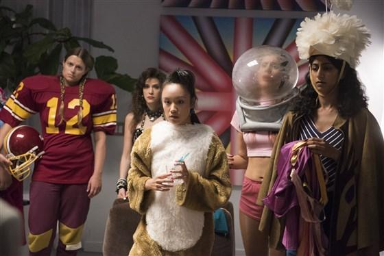 Glow on Netflix ( Ellen Wong as Jenny Chen, in the centre)