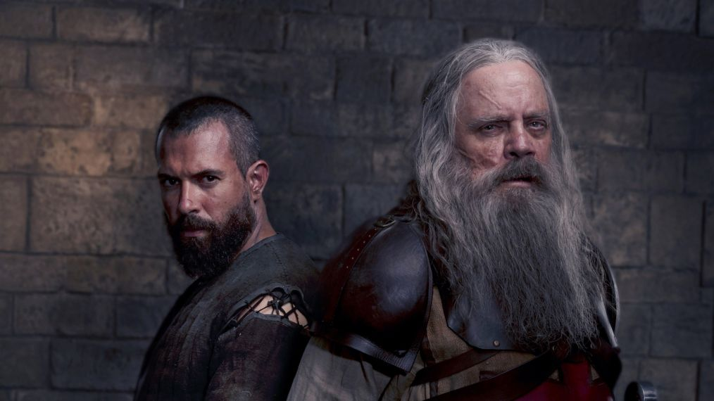 Tom Cullen and Mark Hamill in, Knightfall