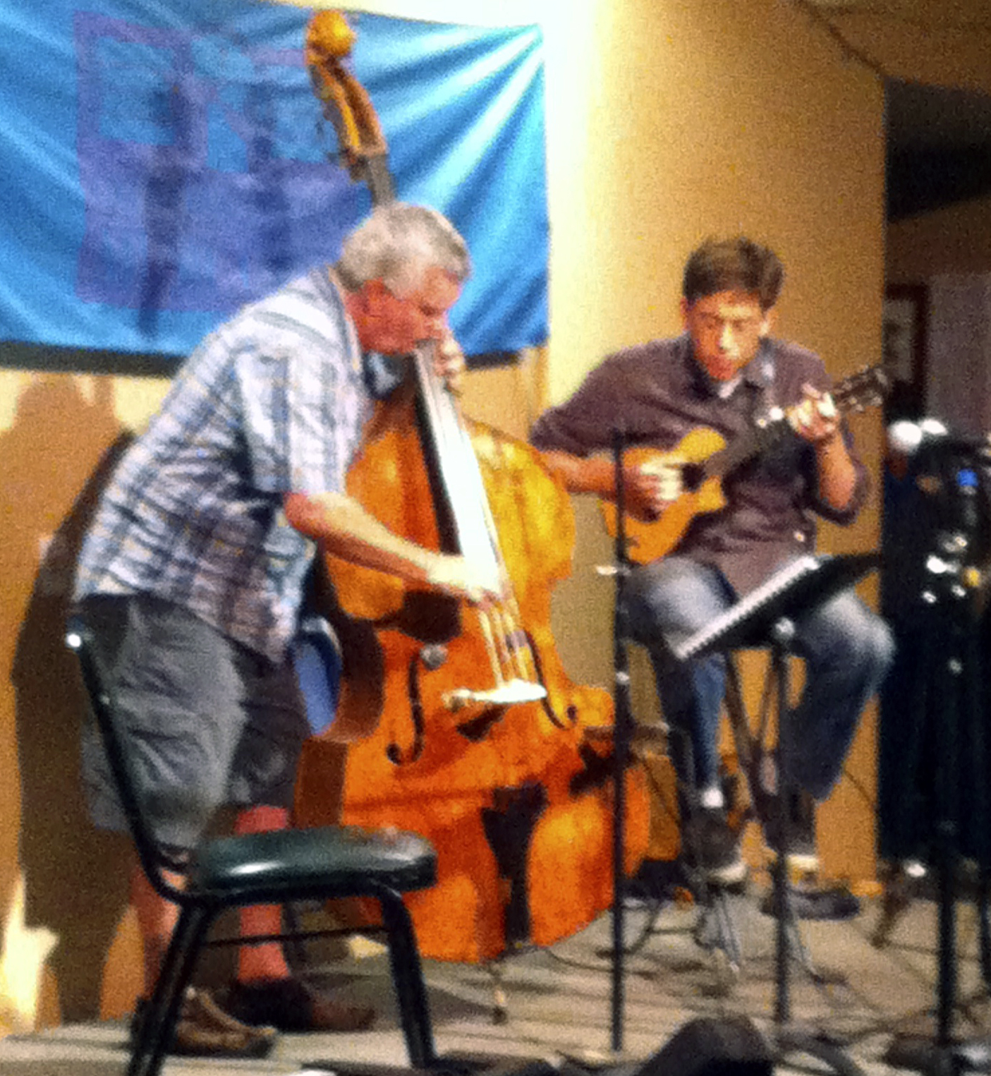 2013 California Coast Music Camp  – On stage with Rene Worst.