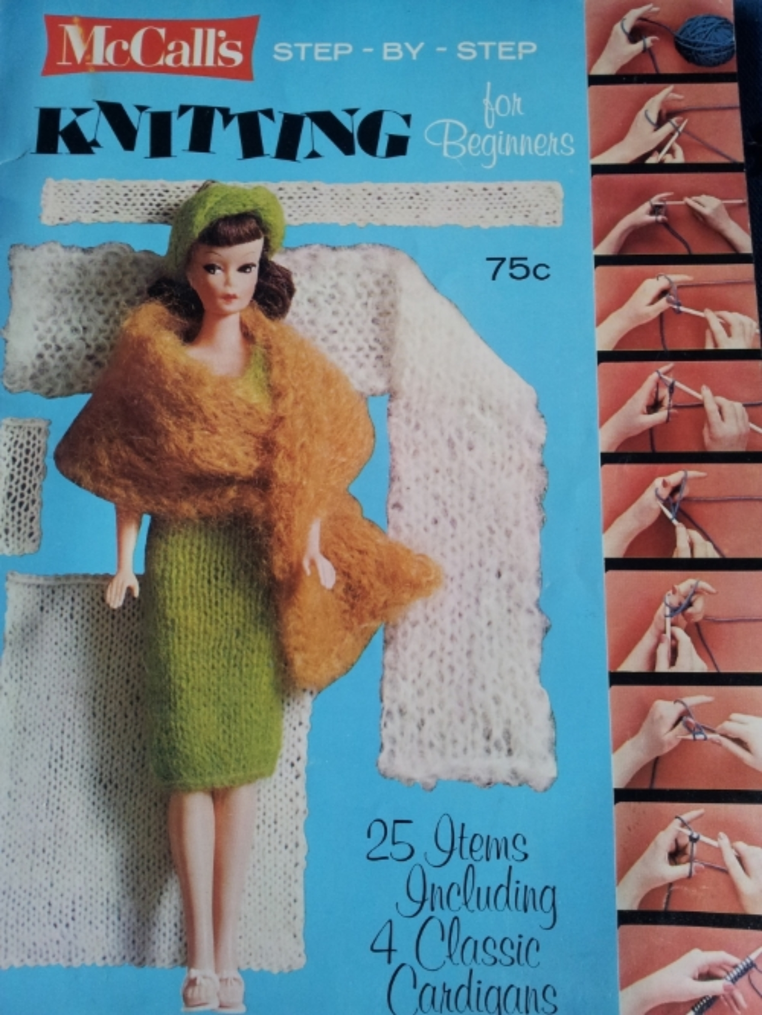 My first Knitting Book, still in my possession.