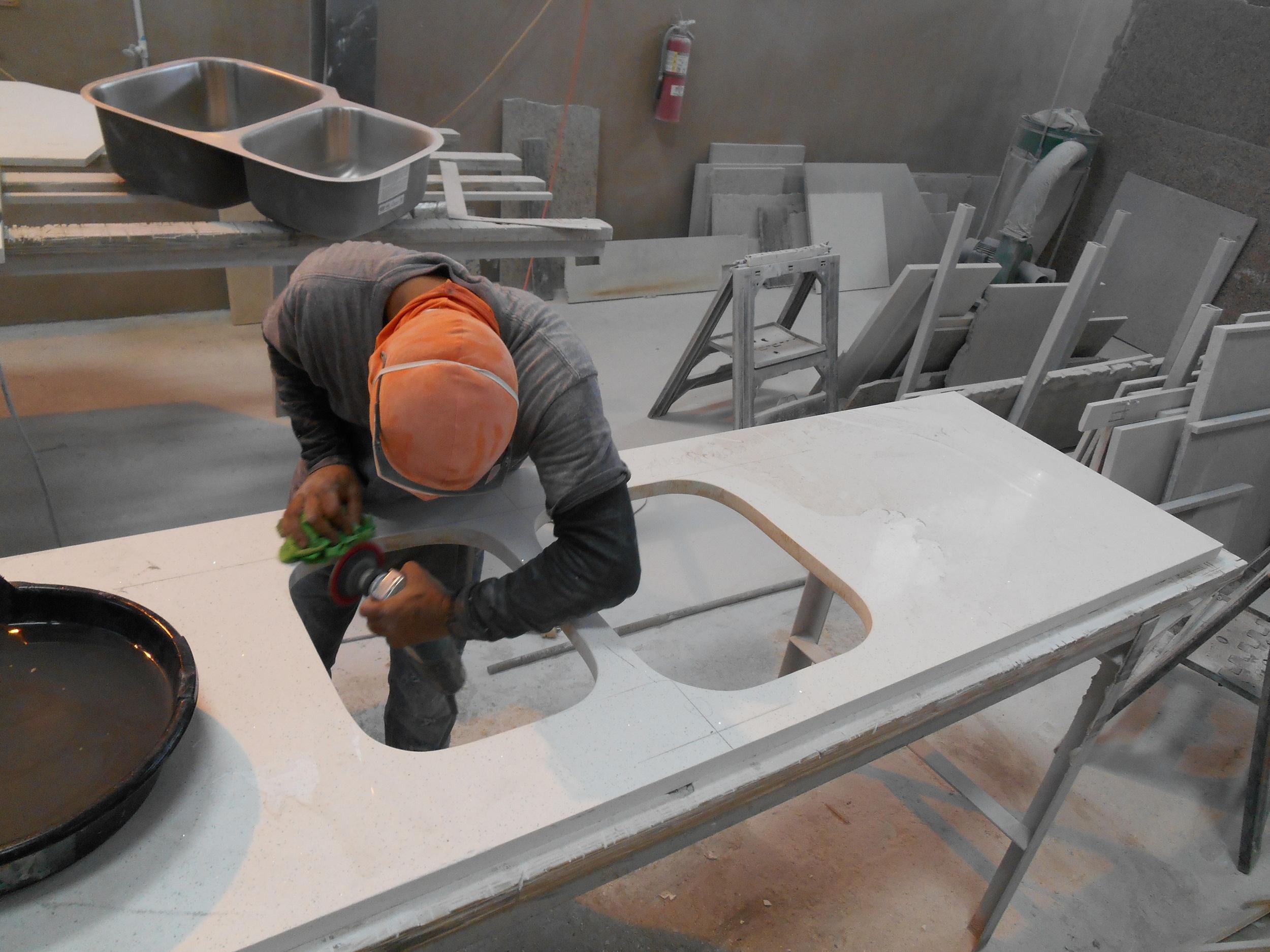 Fabricación de topes de cuarzo