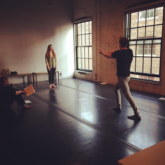 It's #tbt! Here are actors Will King and Nora Smith from our production of The Play About the Baby (2017) rehearsing using Archetypal Action.  We're gearing up for our Chekhov Meets Shakespeare workshop this Saturday and Sunday! We're excited to meet everyone and explore using this joyful approach.