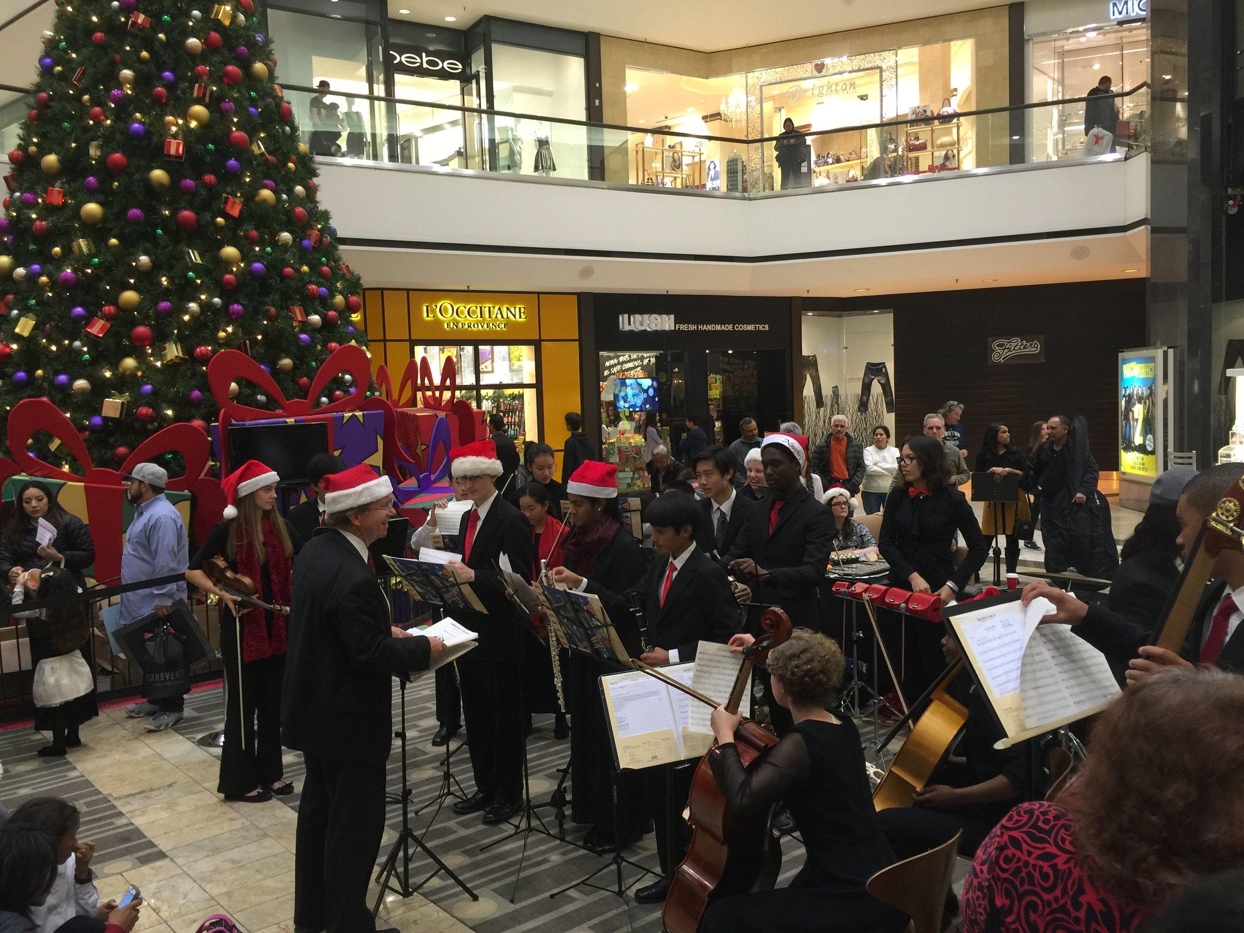 YOSAC at Stoneridge Shopping Center 12/15