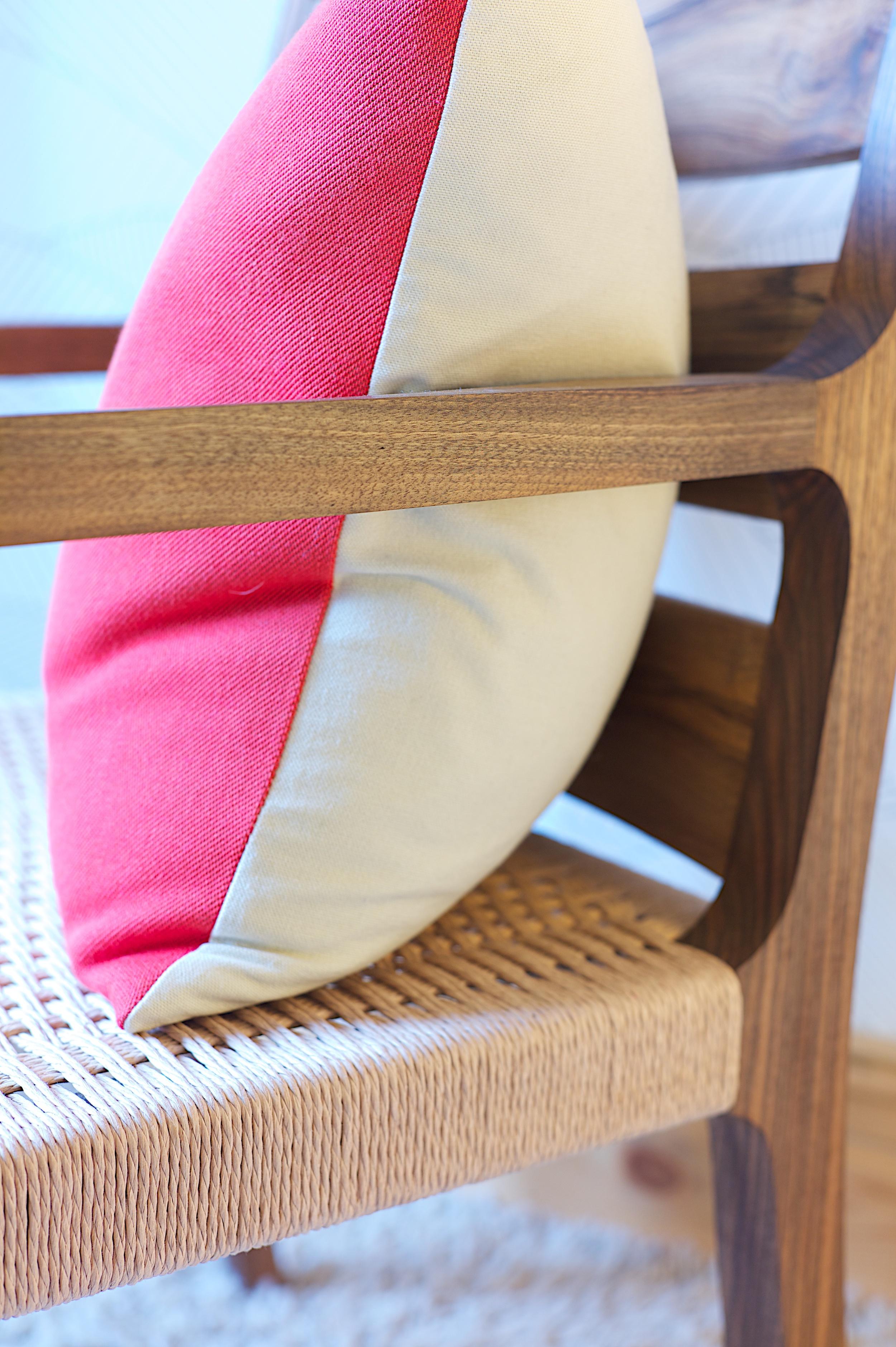 walnut reading chair