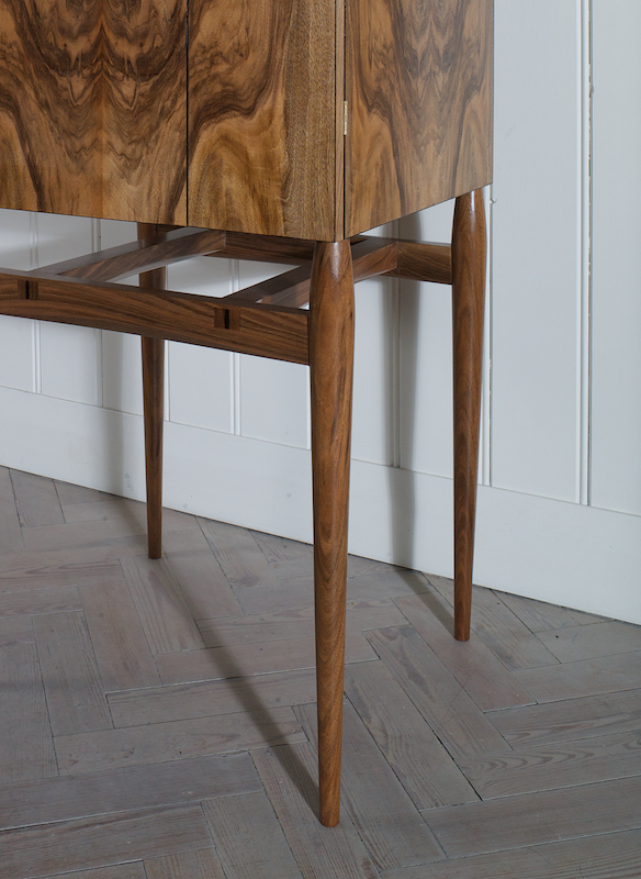 Petrel whisky cabinet - leg and side detail