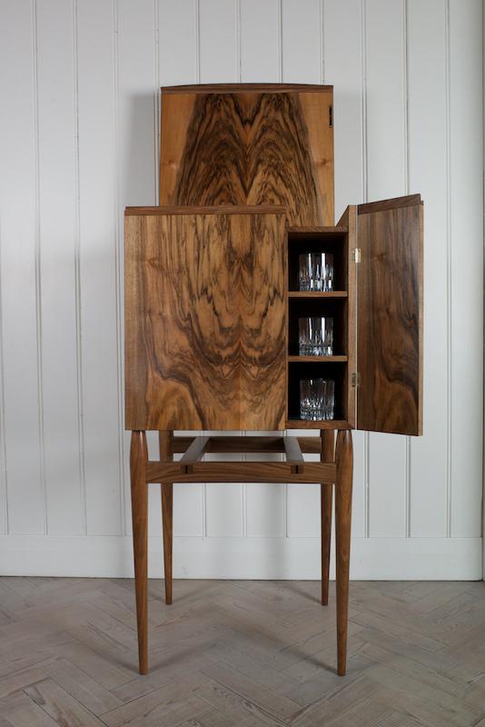 Petrel furniture English walnut whisky cabinet