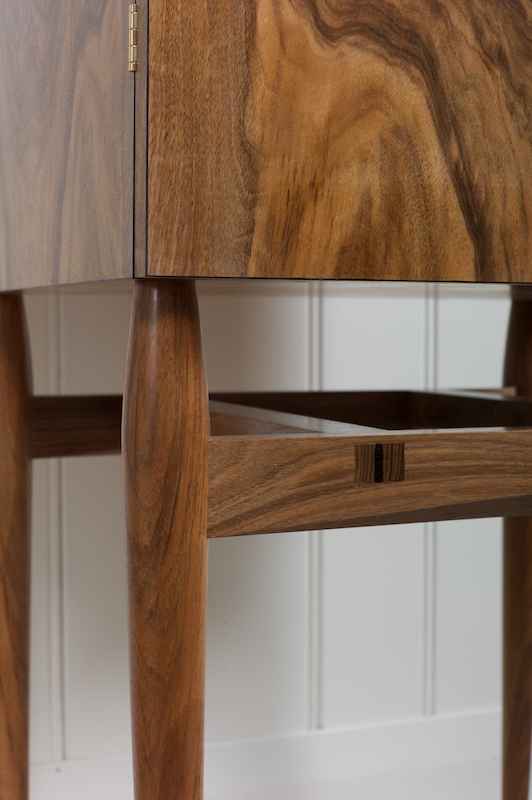 Petrel furniture whisky cabinet - leg close up