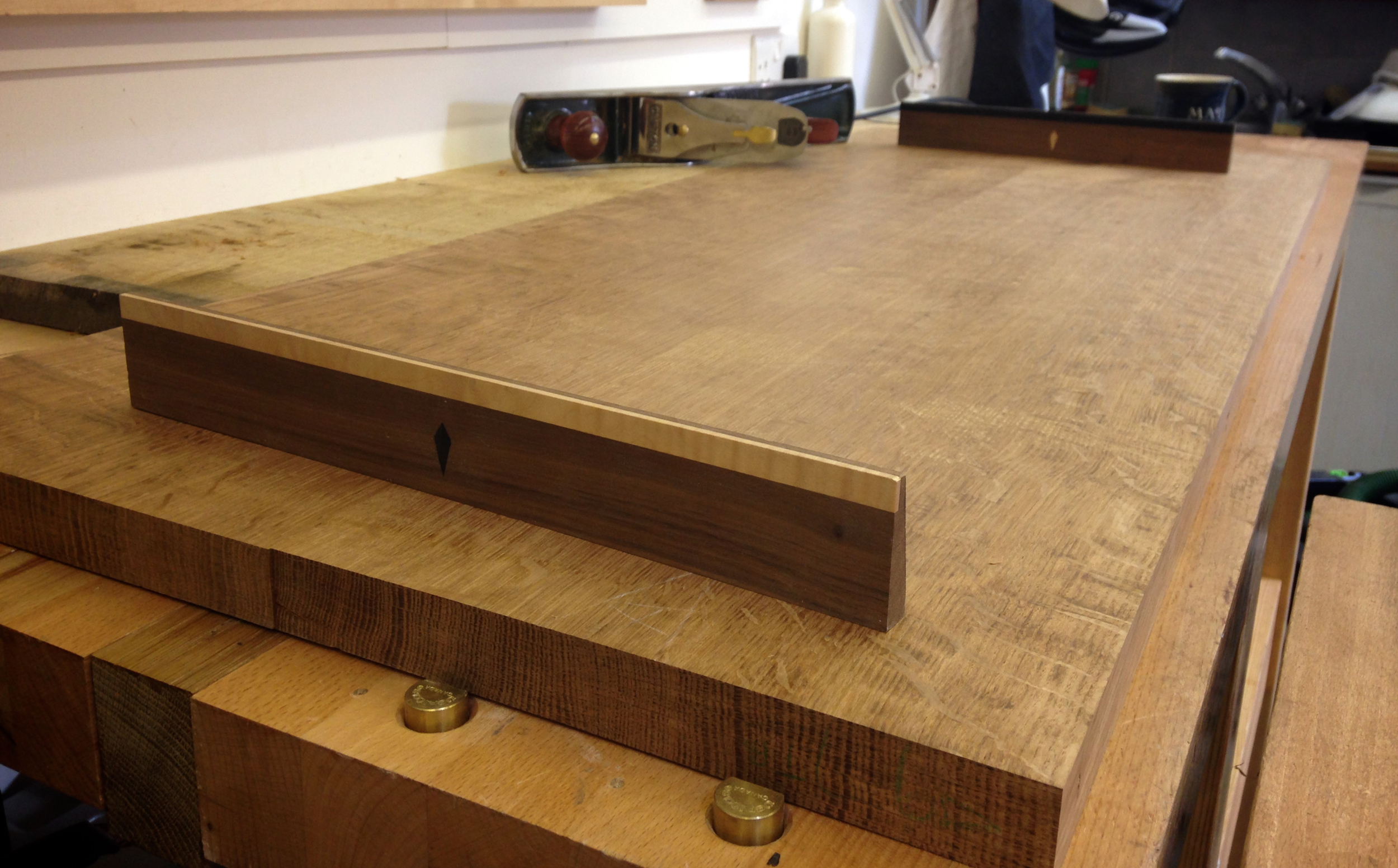 brown oak after planing