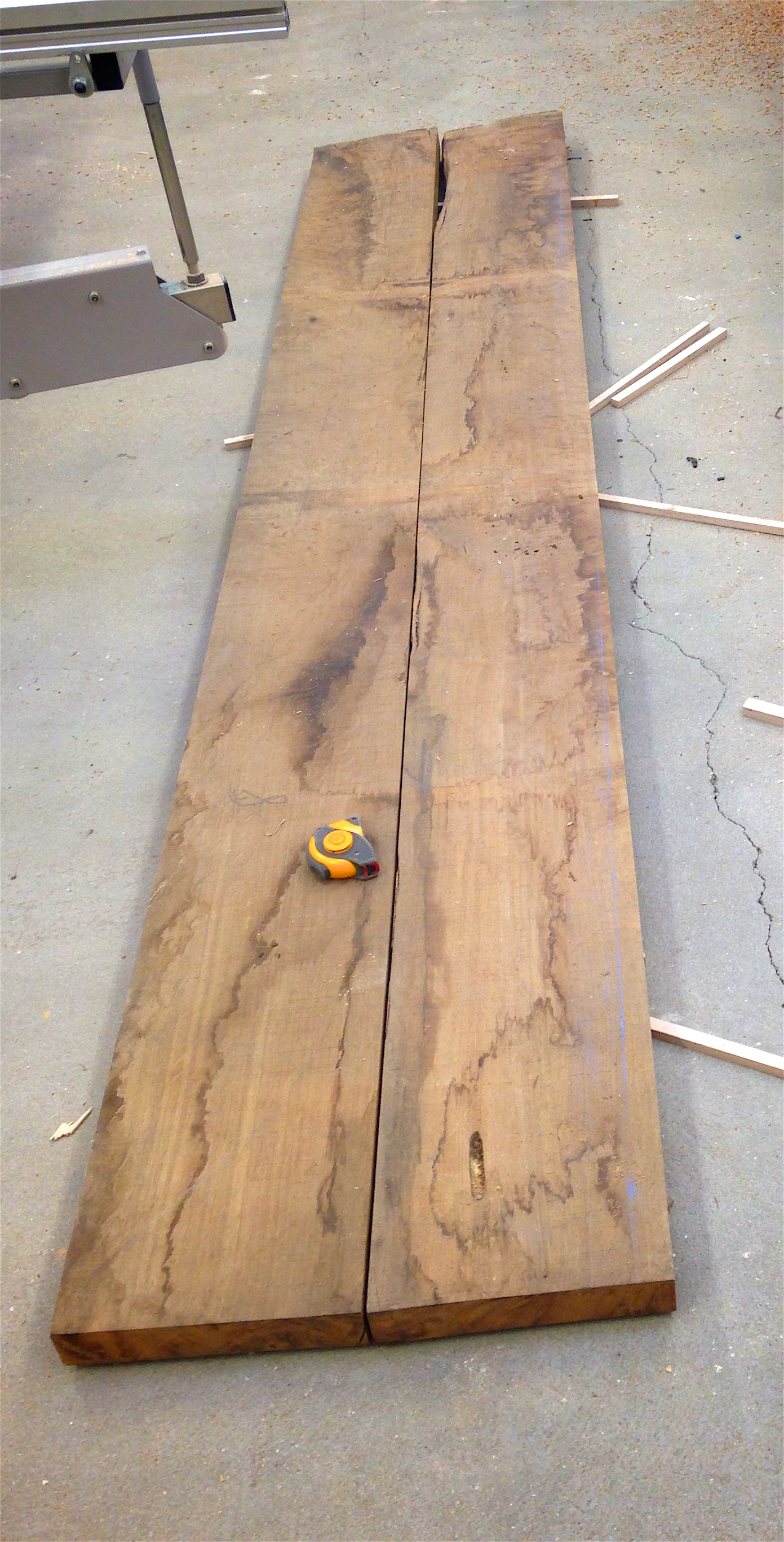 book matching the brown oak boards