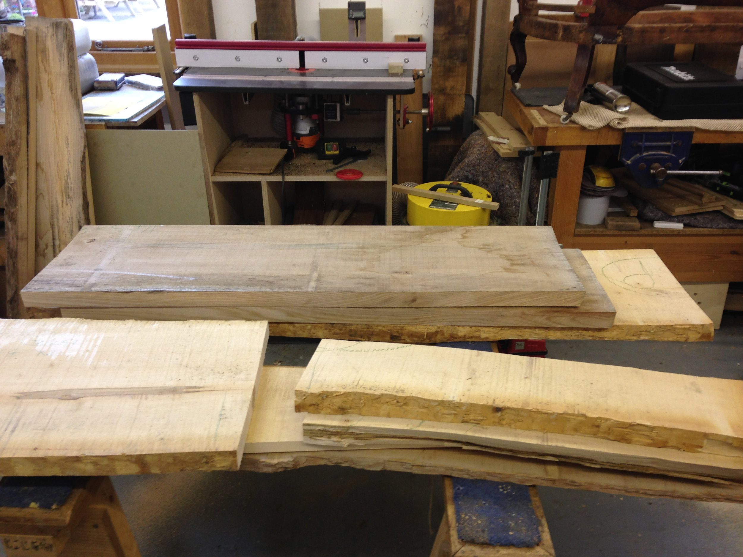 Decision made! sycamore and elm cut to size
