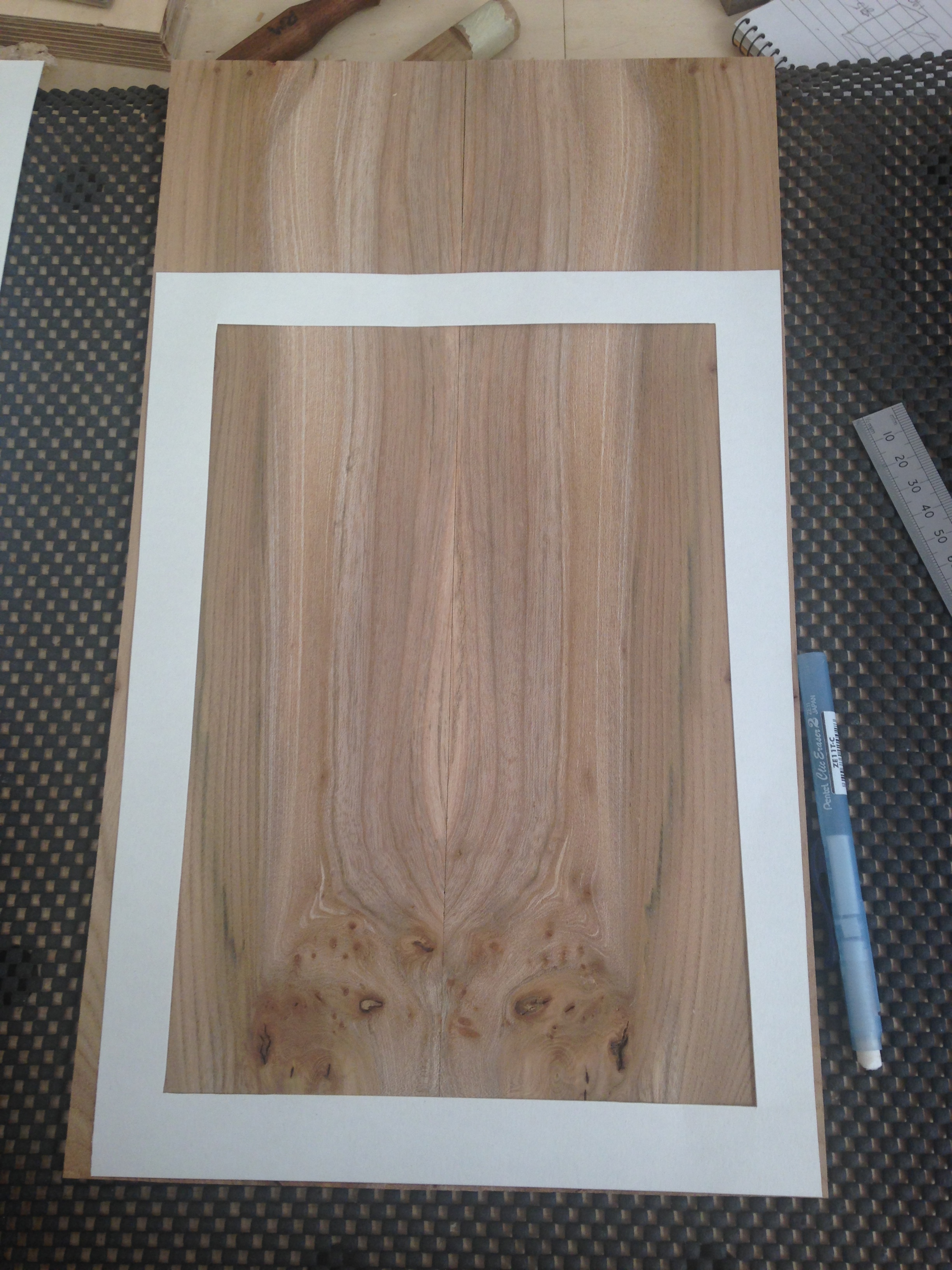 book matched burr section for door
