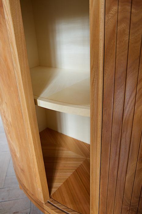 Petrel bookcase sycamore interior