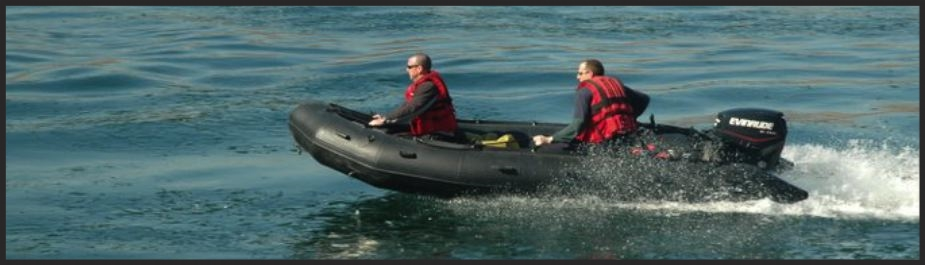 Flood rescue training, boat operations