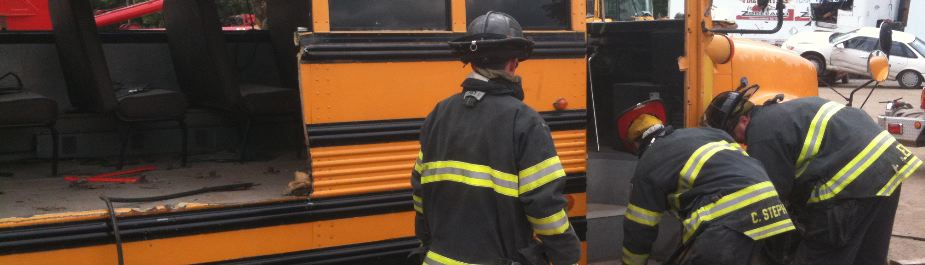 School bus extrication