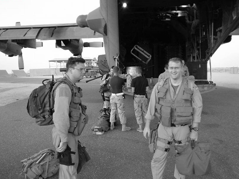 After a mission, OIF, 2004