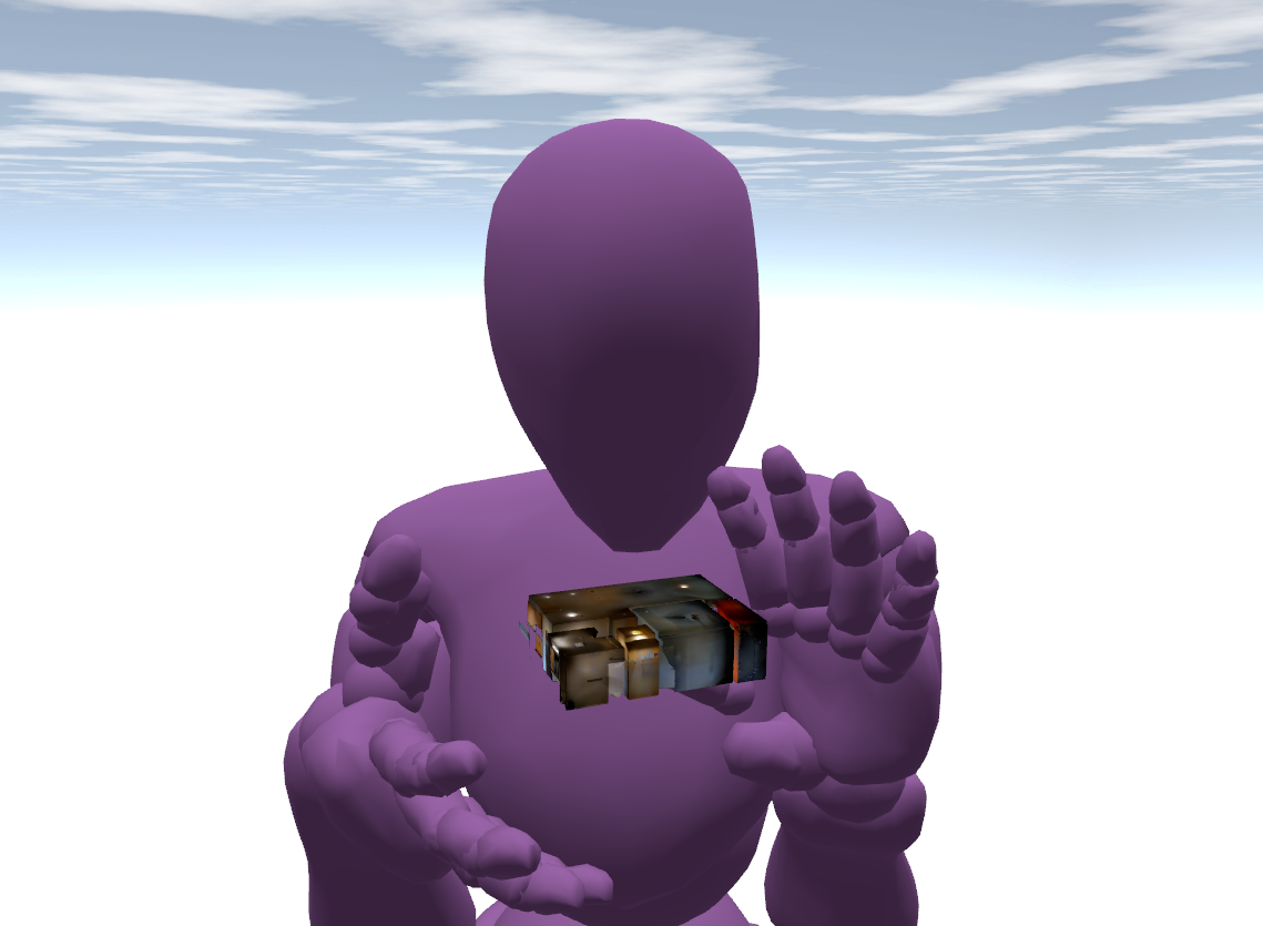 Apartment shrunk down to size. Screenshot taken by Techn0Shaman