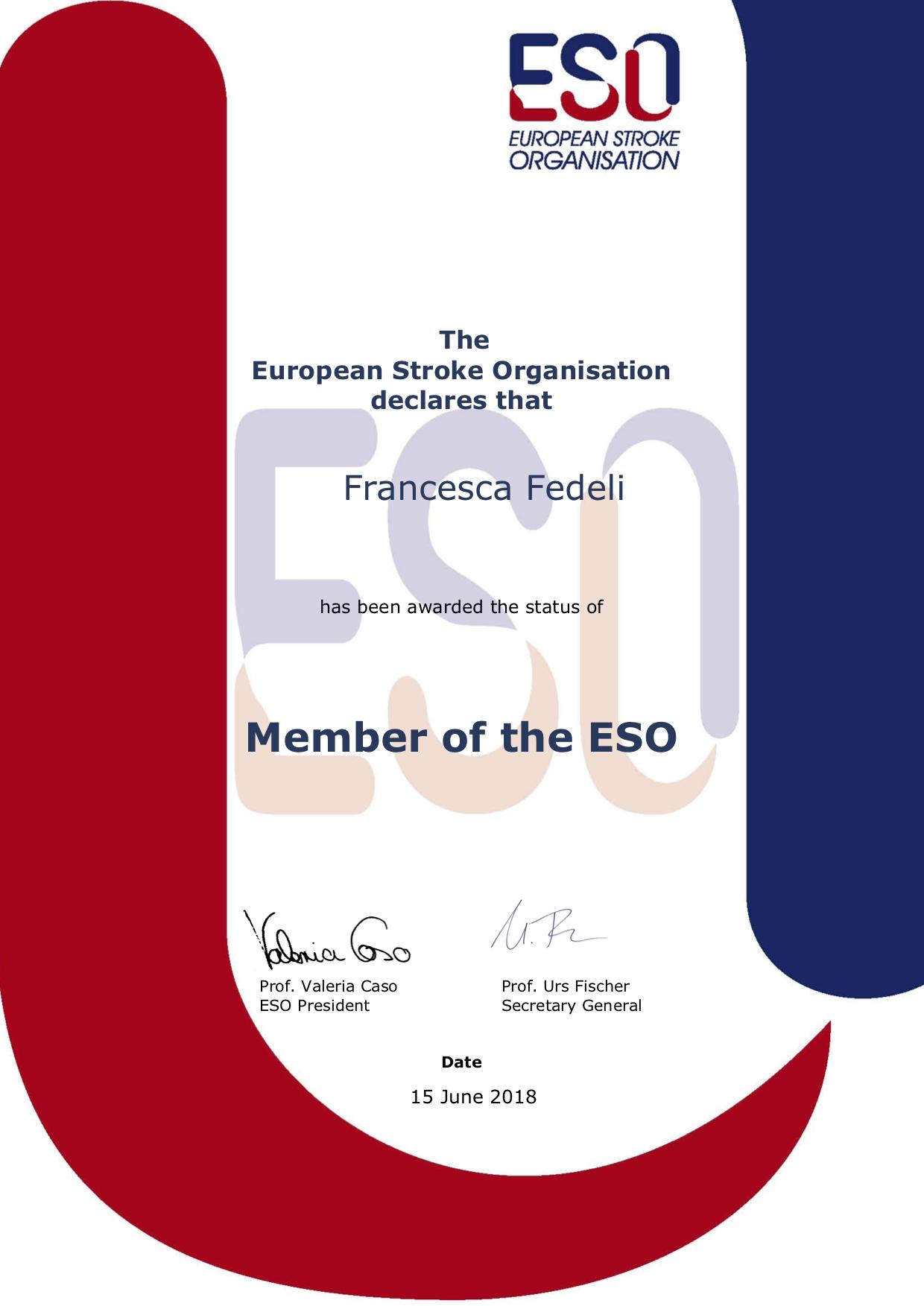 EuropeanStroke Organisation (ESO) Membership