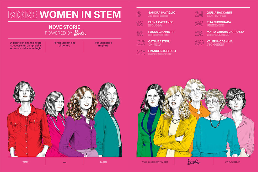 Progetto Barbie-Wired 'More women in stem'