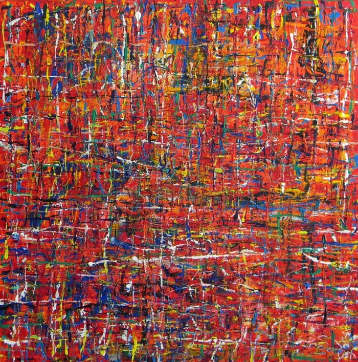 Wired by w.e. pugh; acrylic on canvas