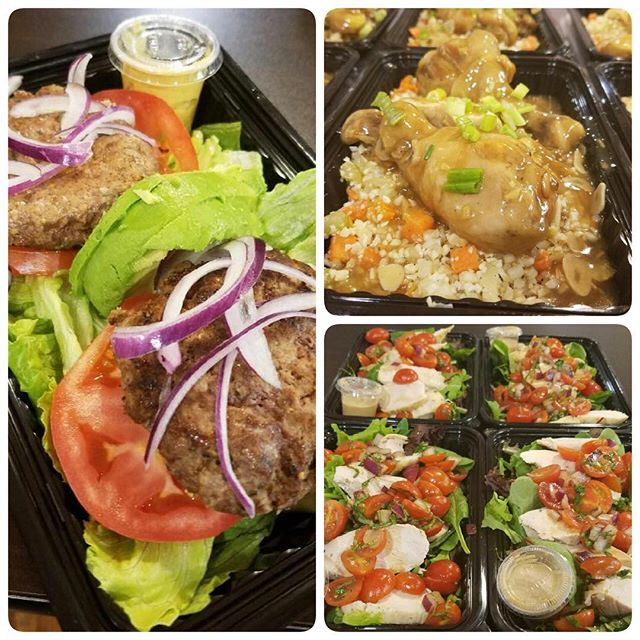 Paleo burger bowls, Filipino Chicken Adobo over Cauliflower rice, and Chicken Bruschetta Salad. Meals are available to purchase at Sweet Natalie's Gluten Free Bakery, 228 S. 3rd Street, Geneva. #cheftony #elevatefood #100daysofcleaneating #chicagofoodpic #instapic #instafood #foodie #chicagofoodie #chicagofoodscene #foodpic #healthyeating #cleaneating #eatright #eathealthy #eatclean #dinner #🍴#nofilter #glutenfree #paleo
