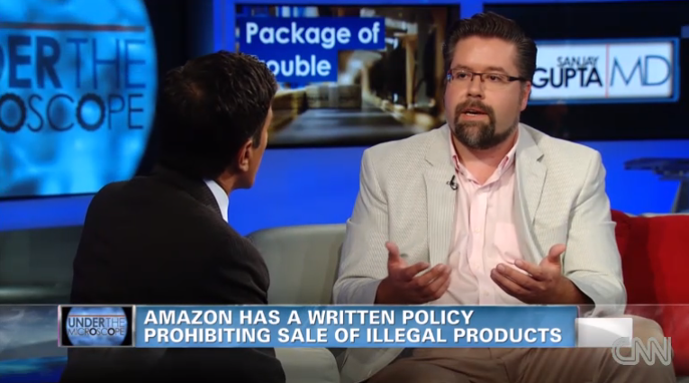 Discussing Amazon's Illegal Drug Dealing (Slate) with Sanjay Gupta for CNN.