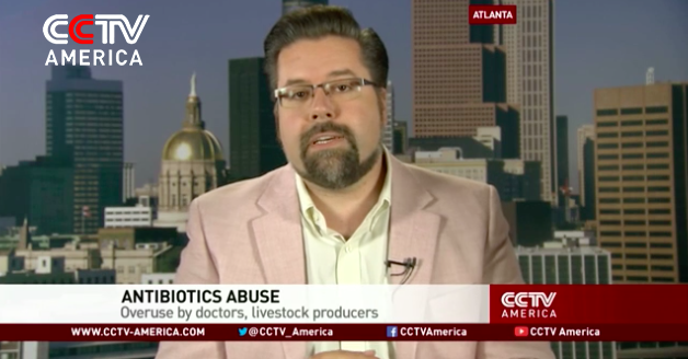Commentary on the rising problem of antibiotic resistance for CCTV America.