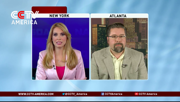 Discussing experimental Ebola drugs for CCTV America.