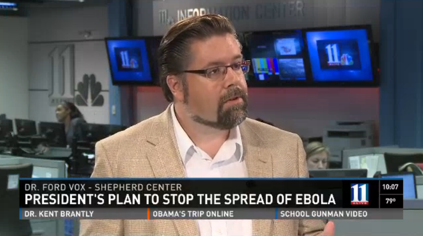 Commentary on President Obama's Ebola response for Channel 11 (11 Alive - Atlanta ABC)