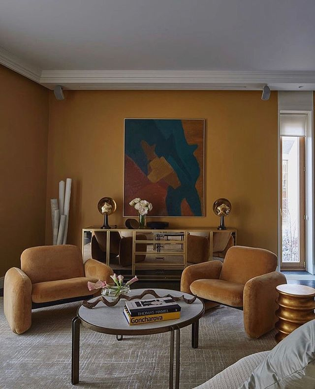 Perfect September color palette. (Photo via @mattersofthehome, @elledecorationru) . . . .  #interior123 #elledecorationru  #interiorarchitecture #fallpalette  #travelinspo #interiorinspo #kfineconcepts