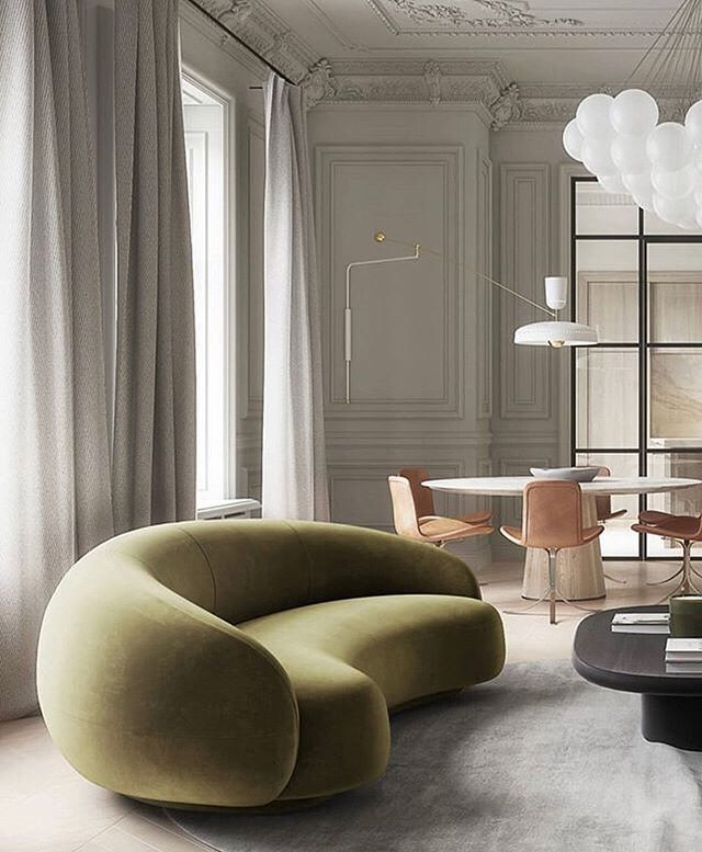 Perfect curved sofa. (Design by @goriyoon_architecture, via @visualpleasuremag) . . . . #interior123 #curvedsofa  #luxurydecor #italianfurniture #milandesign #kfineconcepts #italiandesigner