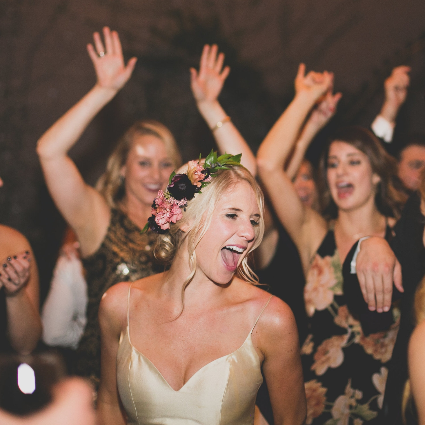 BRIDE DANCING HEART OUT