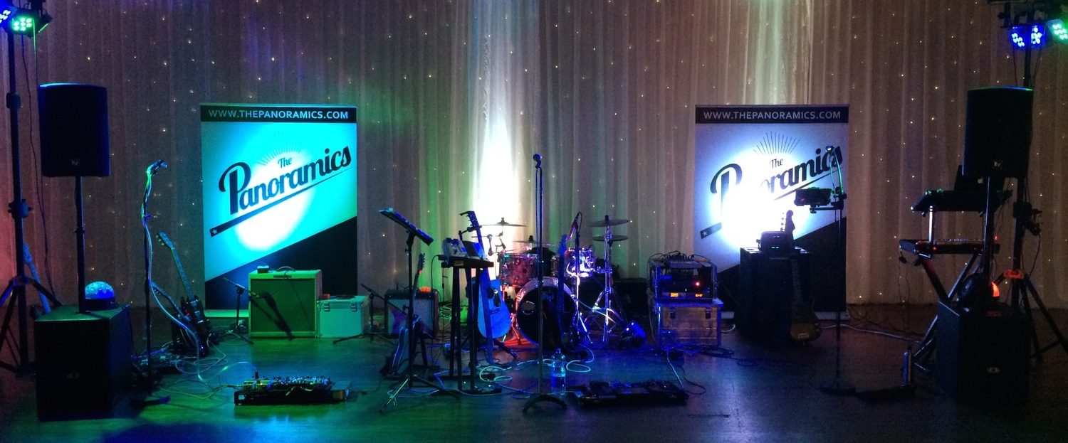 The Panoramics wedding band ready to rock