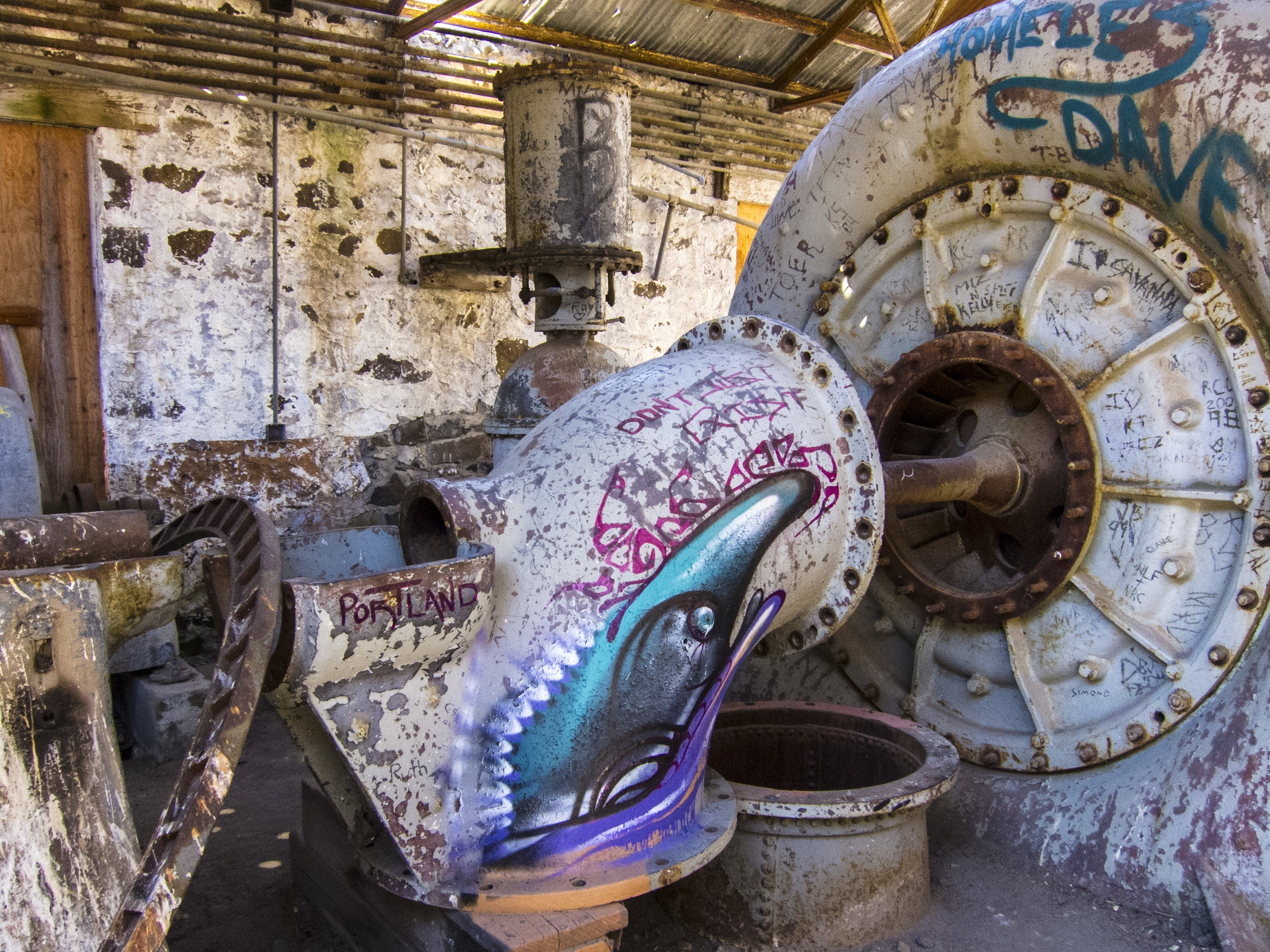 Abandon Power Plant, White River State Park,  Oregon