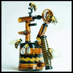 """HONEYBEE BLOWTORCH""  Collaboration with Phil Siegel"