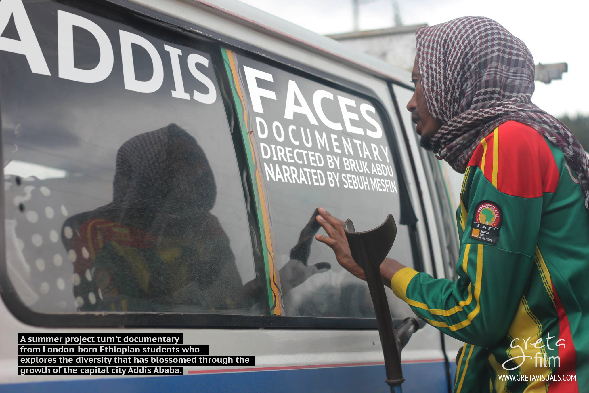 'Addis Faces' Digital Poster.  (KURB Doc)    A digital poster for 'Addis Faces'. A insightful documentary that showcase the new diversity in the city 'Addis' from different perspectives. (Documentary) Watch the full  documentary here .