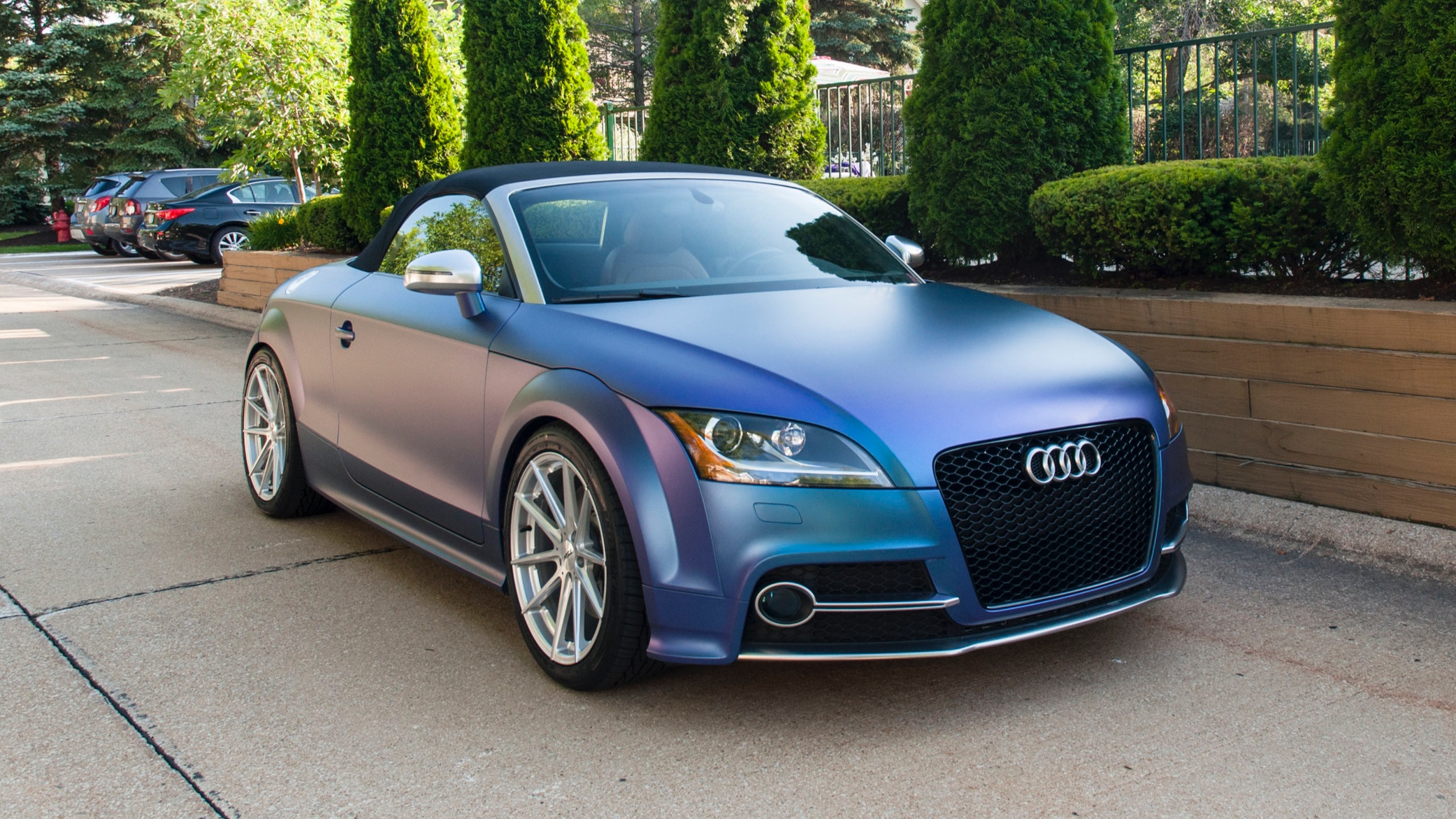 Audi TT-S - Wrapped in KPMF Matte Blue/Purple Iridescent and Satin Chrome, TSW Wheels