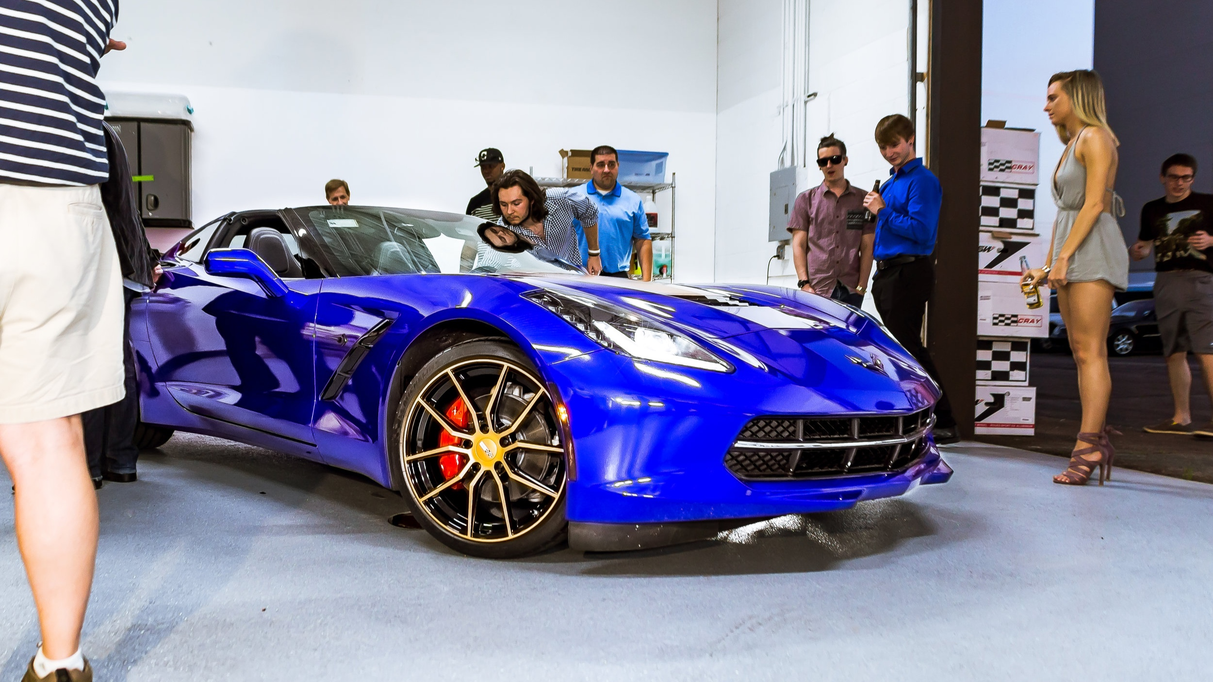 Corvette C7 Stingray - Raspberry Blue, Satin Bronze Accents, ACS Composities Aero, Cray Wheels, Corsa Exhaust
