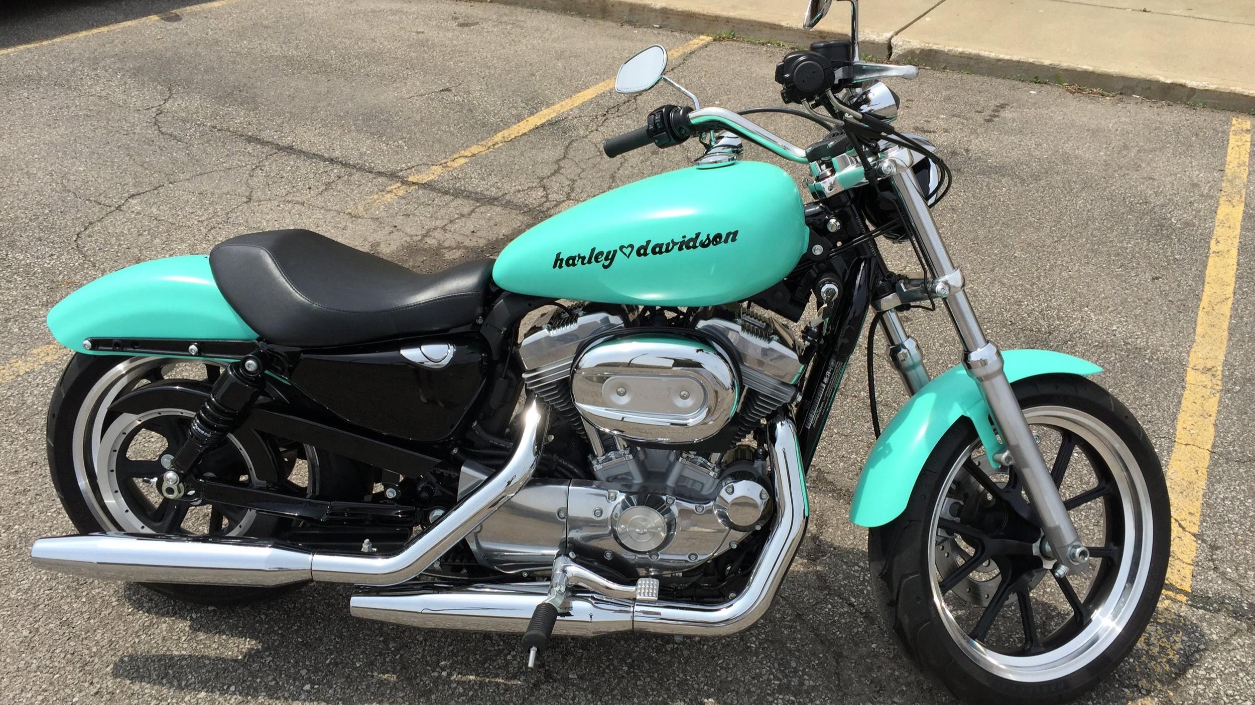 Harley-Davidson Sportster - Tiffany Blue, Custom Harley Logo