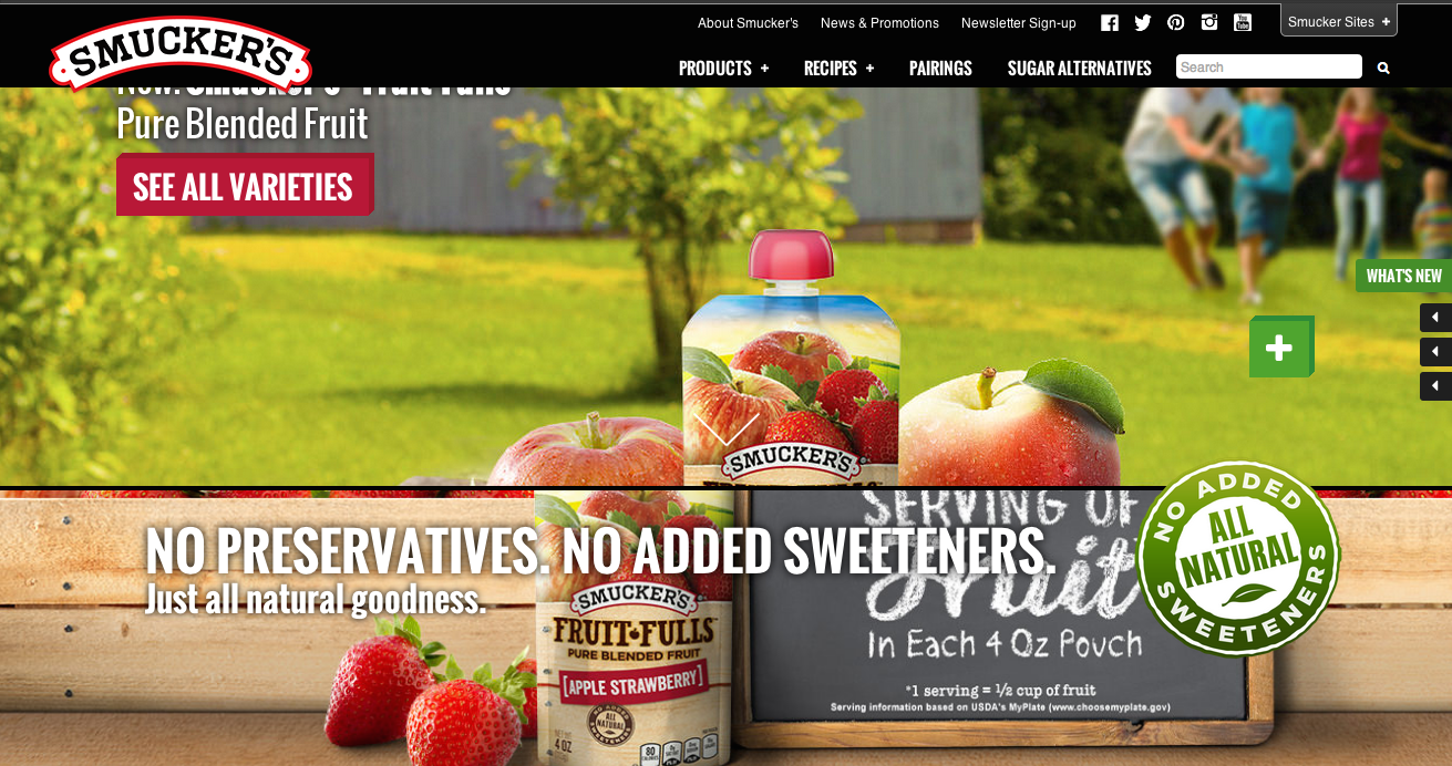 Part of a massive strategic rebrand of the JM Smucker Co. and their family of brands from strategy to concepting, and developing apps and digital experiences.