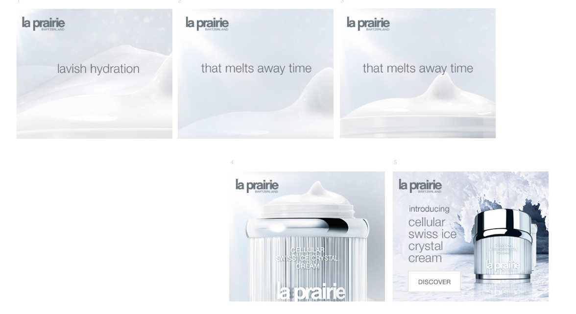 Global digital branding for La Prairie - one of the luxurious skincare lines available.