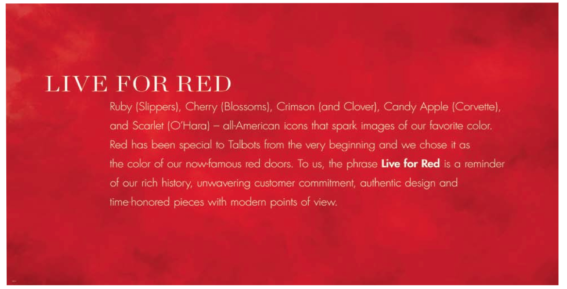 Rebranding Talbots and what it means to be Red.