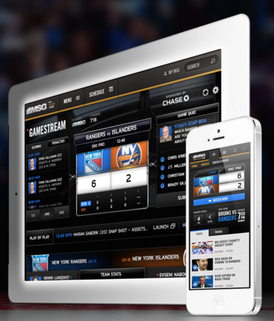 A responsive website and personalized platform optimized for desktops, tablets and mobile devices that saw a 46% rise in MSG gameflow and events with no paid advertising.