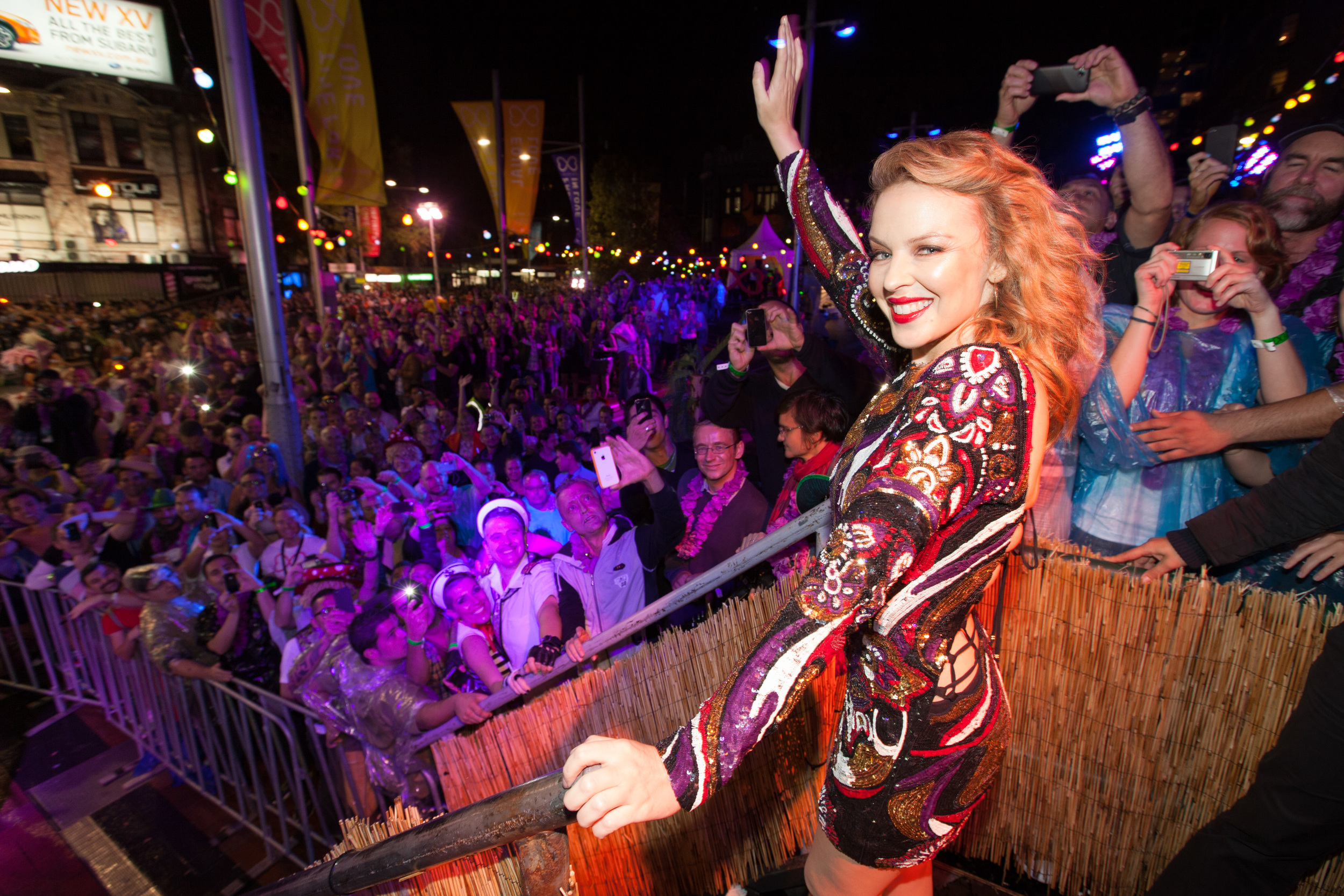 Kylie Minogue at Sydney Mardi Gras for Destination NSW