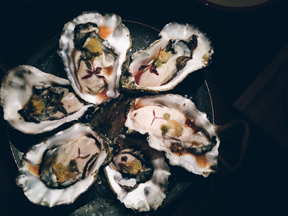 Sultry oysters at Mr. Parker's in Palm Springs