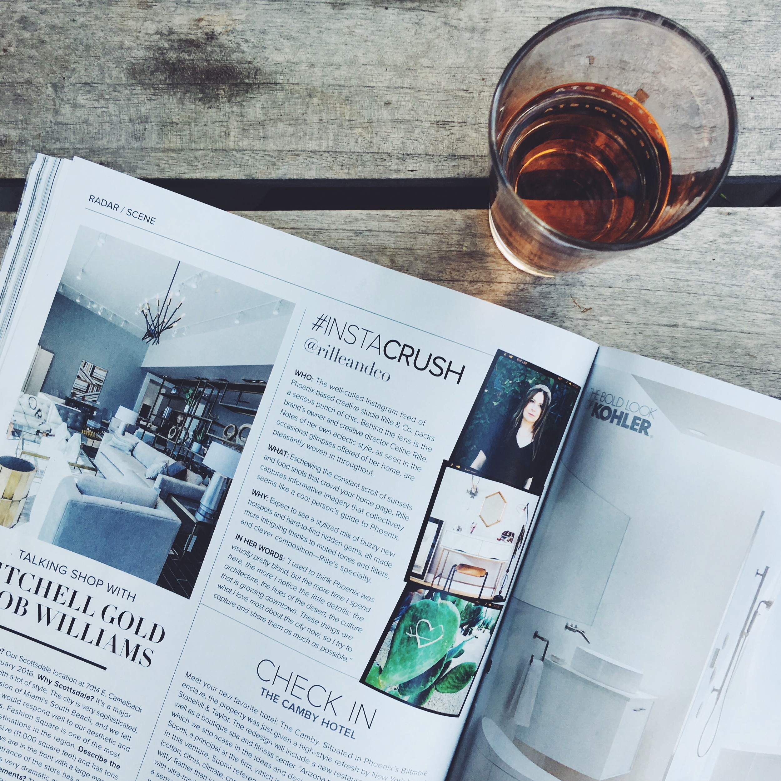 Rille & Co. is Instacrush-worthy in the September issue of Luxe magazine